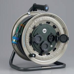 ハタヤ サンタイガーレインボーリール 屋外用 100Vタイプ 標準型 2P 15A 125V 接地付 コンセント3個 長さ30m VCT2.0㎟×3C 温度センサー内蔵 GX-301K