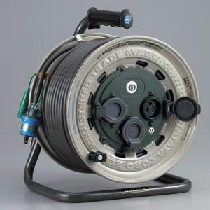 ハタヤ サンタイガーレインボーリール 屋外用 100Vタイプ 標準型 2P 15A 125V 接地付 コンセント3個 長さ50m VCT2.0㎟×3C 温度センサー内蔵 GX-501K