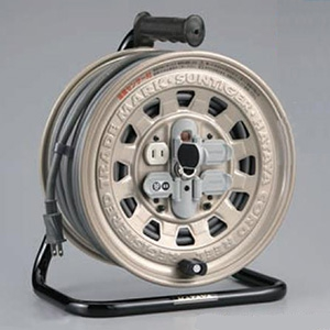 ハタヤ サンタイガーリール 100Vタイプ 標準型 2P 15A 125V コンセント4個 長さ50m VCT2.0㎟×2C 温度センサー内蔵 GT-50