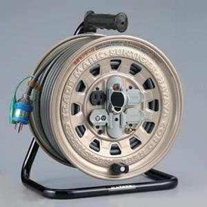 ハタヤ サンタイガーリール 100Vタイプ 標準型 2P 15A 125V 接地付 コンセント4個 長さ50m VCT2.0㎟×3C 温度センサー内蔵 GT-501KX