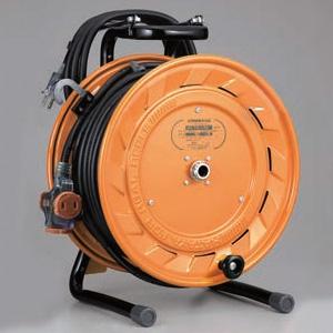 ハタヤ テモートリール 100Vタイプ 標準型 2P 15A 125V 二次側コンセント3個 長さ30+3m VCT2.0㎟×2C 温度センサー内蔵 TA-130