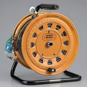 ハタヤ サンタイガーテモートリール 100Vタイプ 標準型 2P 15A 125V 接地付 二次側コンセント3個 長さ30+3m VCT2.0㎟×3C 温度センサー内蔵 TG-130K
