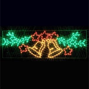 ジェフコム LEDジョイントモチーフ 全点滅タイプ ベルと星 SJ-A17-JT