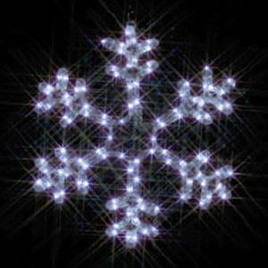 ジェフコム LEDジョイントモチーフ 全点滅タイプ 雪の結晶(小・白) SJ-C101W-JT