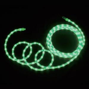 ジェフコム LEDソフトネオン 乳白ロッドタイプ 40mmピッチ 長さ8m 緑 PR-E340W-08GG