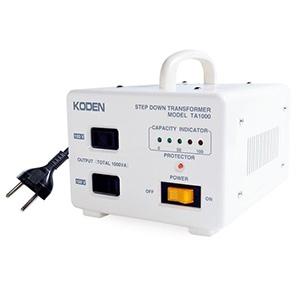 東京興電 降圧変圧器 《トロイダルトランス》 オーストラリア・韓国・ホームベーカリー対応 AC100V 定格容量1000W 安全装置付 TA-1000