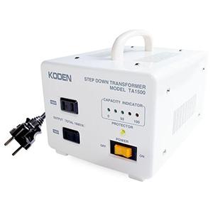 東京興電 降圧変圧器 《トロイダルトランス》 イギリス・シンガポール・炊飯器対応 AC100V 定格容量1500W 安全装置付 TA-1500