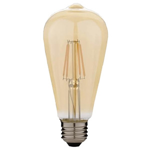 アイリスオーヤマ LED電球 屋内用 アイテム勢ぞろい フィラメント電球タイプ 明るさ60W形相当 キャンドル色 E26口金 密閉型器具対応 LDF7C-G-FK 購買