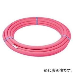 カクダイ 三層管 《メタカポリ》 呼び16×保温材厚さ10mm 長さ25m 保温材付 赤 672-027-25