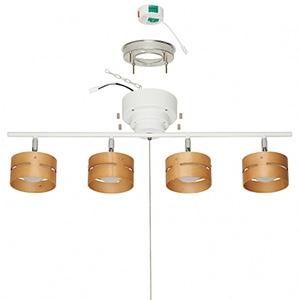 電材堂 【ケース販売特価 2台セット】 LEDスポットシーリングライト 4灯タイプ 引きひも式 電球色 ホワイト SC01WHDNZ_set