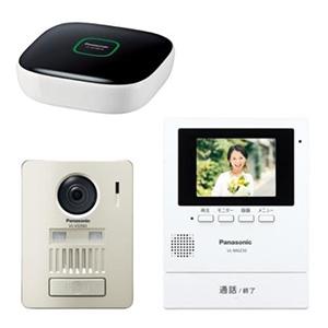パナソニック ワイヤレステレビドアホンキット 1-1タイプ モニター壁掛け・電源コード式 モニター機+ワイヤレス玄関子機+ホームユニット VL-SGZ30K