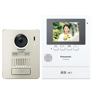 パナソニック ワイヤレステレビドアホン 1-1タイプ モニター壁掛け・電源コード式 モニター機+ワイヤレス玄関子機 VL-SGE30KL