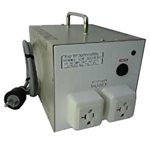 日章工業 昇圧変圧器 《アップトランス NDFシリーズ》 UPUタイプ AC100~127V 出力容量2000W 管ヒューズ(交換可) NDF-2000UPU