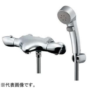 カクダイ サーモスタットシャワー混合栓 《ASURA》 節湯型 壁付タイプ 寒冷地用 逆流防止機能付 173-235K