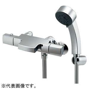 カクダイ サーモスタットシャワー混合栓 《TSUKI》 節湯型 壁付タイプ 寒冷地用 逆流防止機能付 173-244K