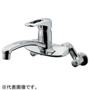 カクダイ シングルレバー混合栓 節湯型 壁付タイプ 逆流防止機能付 192-128