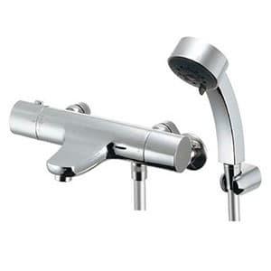 カクダイ サーモスタットシャワー混合栓 《雪》 節湯型 壁付タイプ 逆流防止機能付 173-246