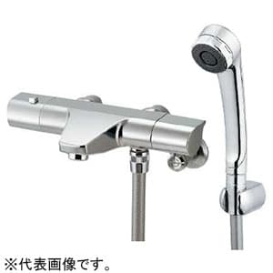カクダイ サーモスタットシャワー混合栓 節湯型 壁付タイプ 寒冷地用 逆流防止機能付 173-076K