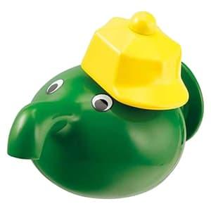 カクダイ 子供用水栓 《蛇口くん》 単水栓タイプ 固定コマ式 呼び径13 吐水口高さ33mm グリーン 711-402-13