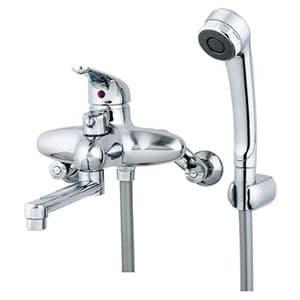 カクダイ シングルレバーシャワー混合栓 節湯型 水抜可能共用タイプ 逆流防止機能付 143-001