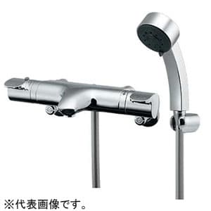 カクダイ サーモスタットシャワー混合栓 《TAMON》 節湯型 壁付タイプ 逆流防止機能付 173-214