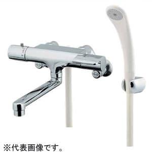 カクダイ サーモスタットシャワー混合栓 節湯型 壁付タイプ 逆流防止機能・シャワーホース付 173-061
