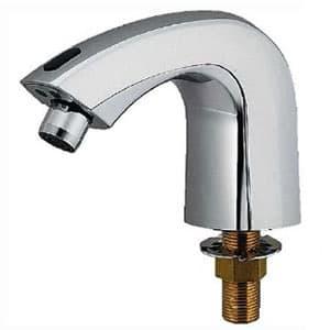 カクダイ センサー水栓 単水栓タイプ 電池式 取付穴径25~28mm 吐水口高さ56mm 713-301