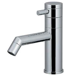 カクダイ 立水栓 《SYATORA》 洗面用 単水栓タイプ 呼び径13 取付穴径22~28mm 吐水口高さ54mm 90°開閉ハンドル機能付 716-819-13