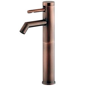 カクダイ シングルレバー立水栓 《SYATORA》 洗面用 ミドル型 単水栓タイプ 呼び径13 取付穴径22~28mm 吐水口高さ180mm ブロンズ 716-225-13