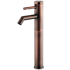 カクダイ シングルレバー立水栓 《SYATORA》 洗面用 トール型 単水栓タイプ 呼び径13 取付穴径22~28mm 吐水口高さ210mm ブロンズ 716-226-13