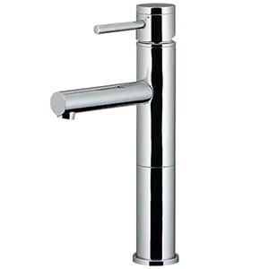 カクダイ シングルレバー混合栓 《SYATORA》 洗面用 ミドル型 メッキ銅管タイプ 節湯型 一般地・寒冷地共用 取付穴33~36mm 吐水口高さ175mm 183-143