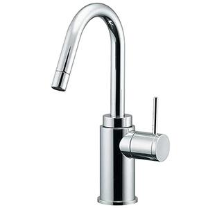 カクダイ 立水栓 《SYATORA》 洗面用 単水栓タイプ 呼び径13 取付穴径22~28mm 吐水口高さ162mm 90°開閉ハンドル機能付 721-203-13
