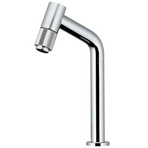 カクダイ 立水栓 《魚子》 洗面用 ミドル型 単水栓タイプ 呼び径13 取付穴径22~28mm 吐水口高さ170mm 90°開閉ハンドル機能付 721-205-13