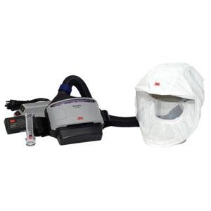 スリーエムジャパン バーサフロー電動ファン付呼吸用保護具 隔離式ルーズフィット形(大風量形) 面体:フェイスシールド(不織布製) JTRS-133J