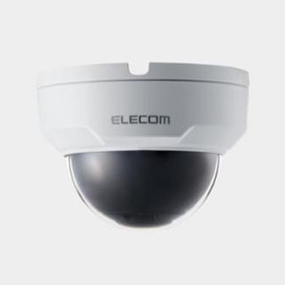 ELECOM ネットワークカメラ ドーム型 防水タイプ 固定焦点2.8mm PoE受電機能搭載 SCB-ED2M01