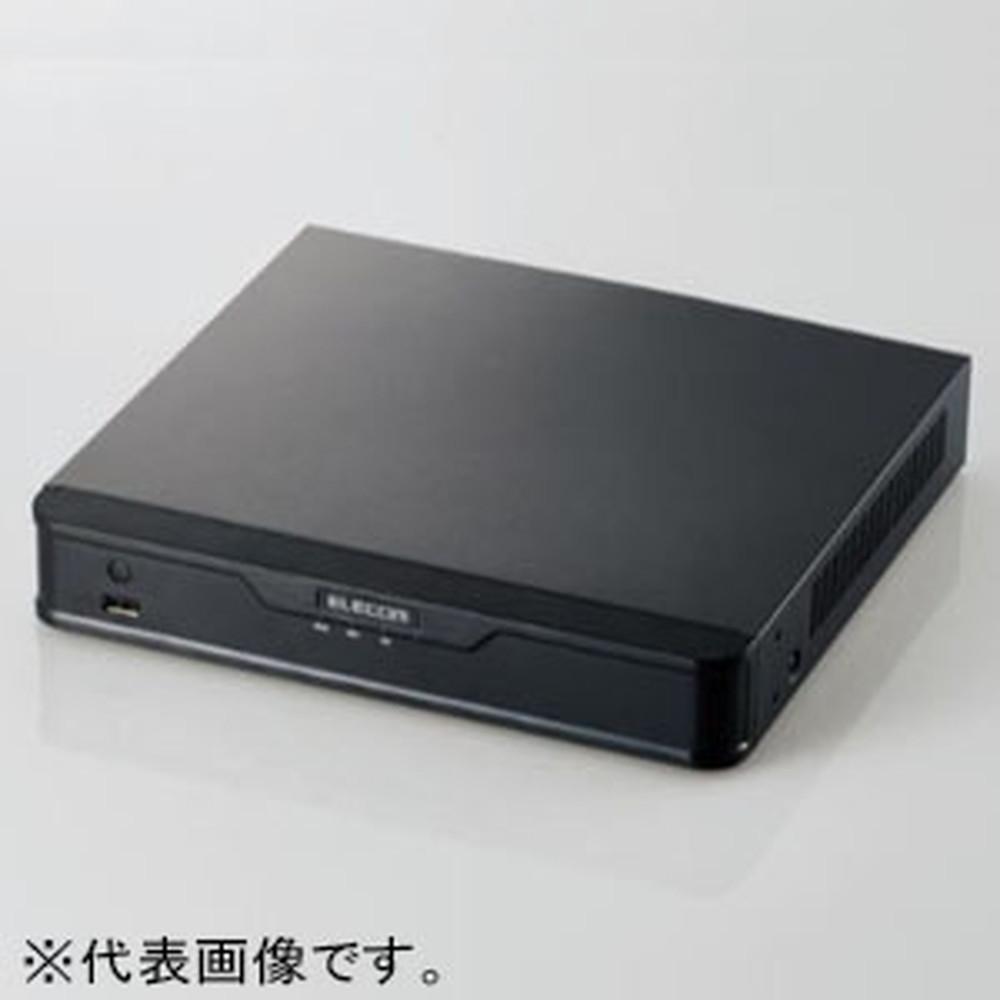 ELECOM ネットワークカメラ専用レコーダー 2TB/4ch対応 PoE給電機能搭載 SRB-E04S02T101