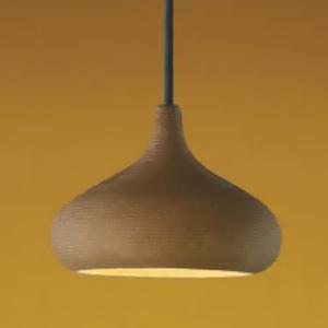 コイズミ照明 LED和風ペンダントライト 直付専用 白熱球60W相当 電球色 口金GX53 緋褐色仕上 《信楽焼シリーズ》 AP35975L