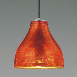 コイズミ照明 LED和風ペンダントライト フランジタイプ 白熱球60W相当 電球色 口金E17 オレンジ色箔貼り風仕上 AP36239L