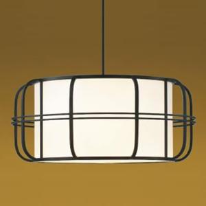 コイズミ照明 LED和風ペンダントライト 白熱球60W相当 電球色 口金E26 引掛シーリング付 黒色 《民芸シリーズ》 AP38924L