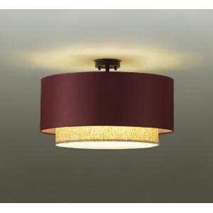 DAIKO LEDシーリングライト 白熱灯100W×4灯相当 非調光タイプ 31.2W 口金E26 電球色タイプ ボルドー DCL-39795Y