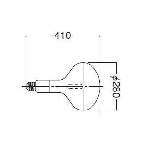 岩崎電気 アイ水銀ランプ 透明反射形 1000W HR1000N