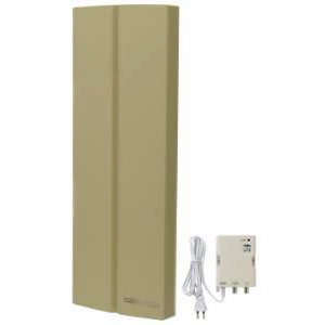 サン電子 地上デジタル放送用 UHF平面アンテナ ブースタ内蔵タイプ 垂直偏波専用タイプ 中・弱電界用 屋外用 《FLAT:LINEシリーズ》 グリーンベージュ SDA-20-4-G