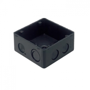 パナソニック 【ケース販売特価 50個セット】大型四角アウトレットボックス スタットなし 大浅型 ワンタッチ ブラック DM4844DK_set