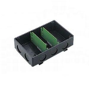 パナソニック 【ケース販売特価 10個セット】 埋込スイッチボックス カバーなし ノックアウト付 3分スタット付 3コ用 《Barクイックシリーズ》 ブラック DM49130B_set