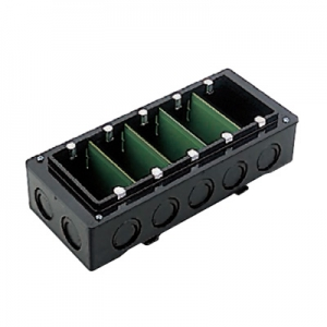 パナソニック 【ケース販売特価 10個セット】 埋込スイッチボックス 13mmカバー付 ノックアウト付 3分スタット付 5コ用 《Barクイックシリーズ》 ブラック DM4915B_set