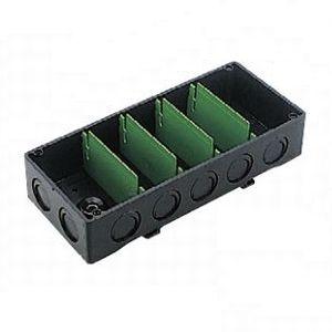パナソニック 【ケース販売特価 10個セット】 埋込スイッチボックス カバーなし ノックアウト付 3分スタット付 5コ用 《Barクイックシリーズ》 ブラック DM49150B_set