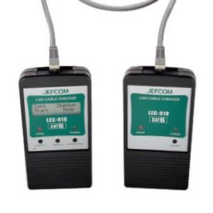 ジェフコム LANケーブルチェッカー CAT6対応 LEC-910