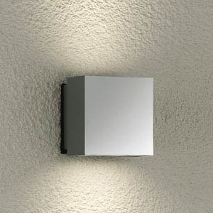 DAIKO LEDブラケットライト 屋外用 白熱灯40W×2灯相当 非調光タイプ 電球色 シルバー LZW-90070YS