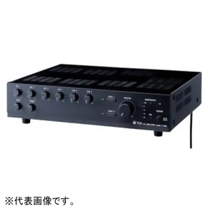 TOA PAアンプ 60W 2U 2局ゾーンセレクター付 呼び出し放送・BGM放送用 非常カット機能内蔵 A-1806