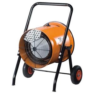 ナカトミ 電気ファンヒーター 循環型温風送風機 組立式 三相200V電源 温度調節ダイヤル付 角度調節可能 ISH-10KT